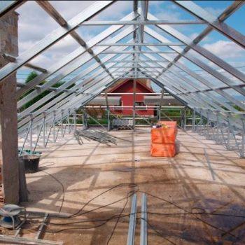 Obra en tejado edificación nueva